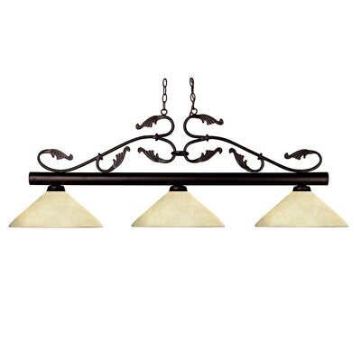 Bourbon 3 Light Billiard Pendant