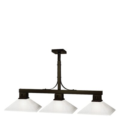 Z-Lite Flatwater 3 Light Billiard Pendant