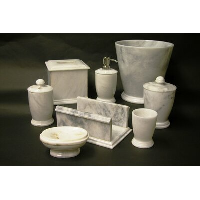 Nature Home Decor 7 Piece Bath Set in White Marble
