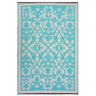 Fab Rugs World Venice Cream/Turquoise Rug