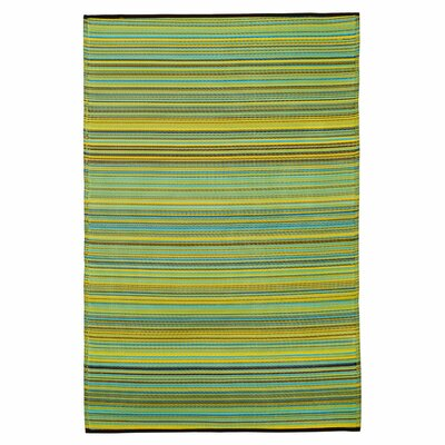 Fab Rugs World Cancun Lemon/Apple Indoor/Outdoor Rug