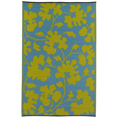 World Oslo Turquoise/Lemon Yellow Rug