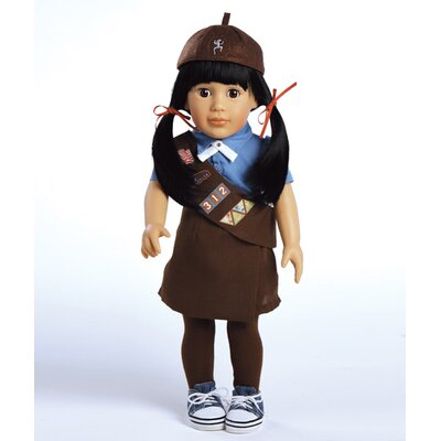 Play Doll Lily - Girl Scout Brownie Doll and Costume
