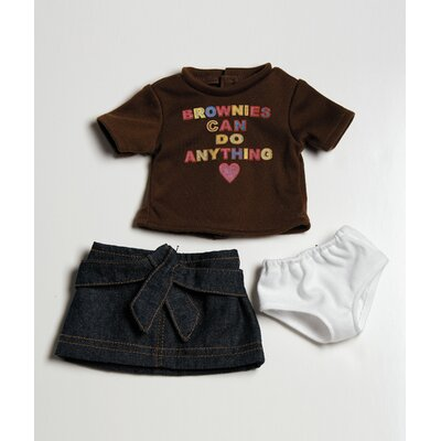 "Adora Dolls 18"" Doll Clothes - Brownie T-Shirt / Skirt Set"