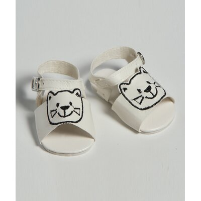 "Adora Dolls 20"" Doll Shoe Sandal Cat''s Meow in White"