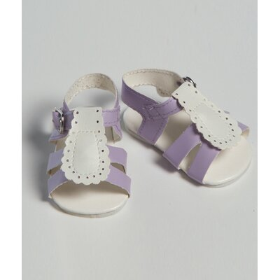 "Adora Dolls 20"" Doll Shoe Sandal Two Tone in Purple / White"