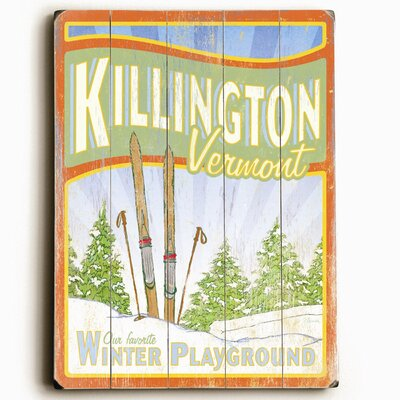 Artehouse LLC Killington - Winter Playground Wood Sign