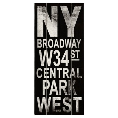 <strong>Artehouse LLC</strong> Ny Broadway Transit Wood Sign