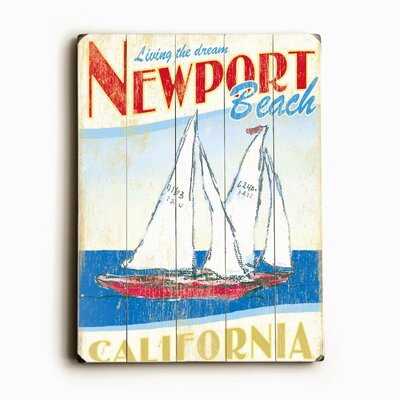 "Artehouse LLC Sailboats Planked Wood Sign - 20"" x 14"""