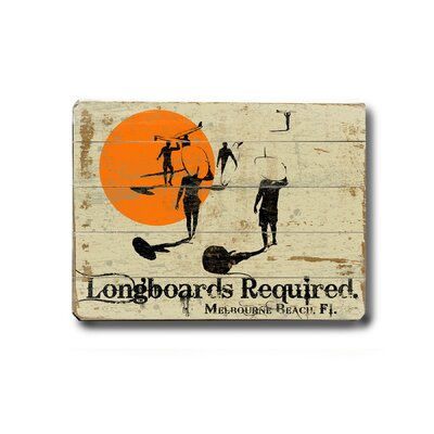 "Artehouse LLC Longboards Required Wood Sign - 9"" x 12"""