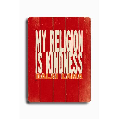 "Artehouse LLC My Religion Wood Sign - 12"" x 9"""