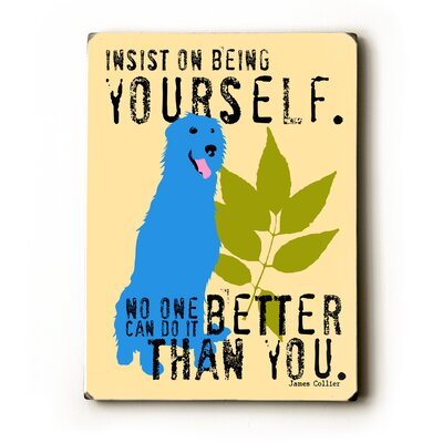 Being Yourself Textual Art Plaque