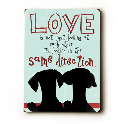 "Artehouse LLC Love is Not Wood Sign - 12"" x 9"""