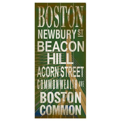 Boston Transit Wood Sign