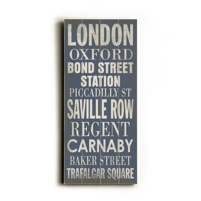 London Transit Wood Sign