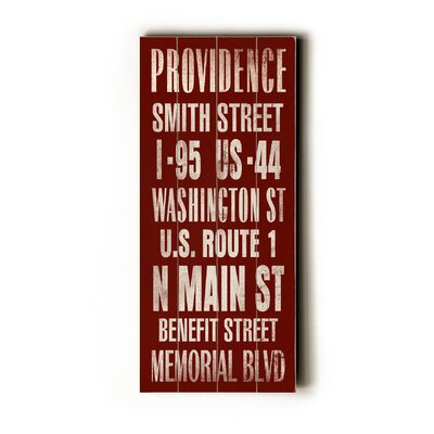 Artehouse LLC Providence Transit Wood Sign