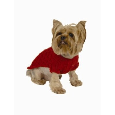 Max's Closet Trellis Cable Dog Sweater with Hat