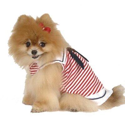 Max's Closet Sailor Collar Nautical Dress