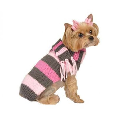 Max's Closet Bold Stripe Dog Sweater with Scarf