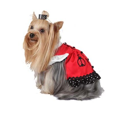 Max's Closet Jumper Dog Dress with Lady Bug Pocket
