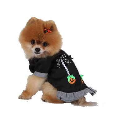 Max's Closet Halloween Pumpkin Dog Dress