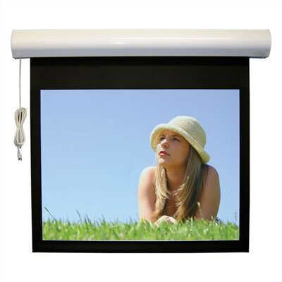 "Vutec Matte White Lectric I RF Motorized Screen - 180"" diagonal Video Format"