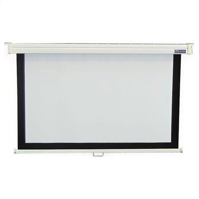 "Vutec Econo Pro Manual Wall Front Projection Screen - 72"" x 96"""