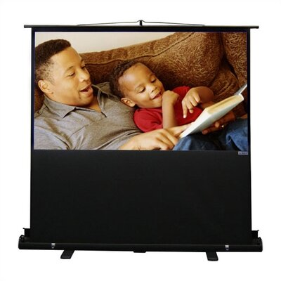 "Vutec Porta-Vu Riser Matte White 68"" Diagonal Portable Projection Screen"