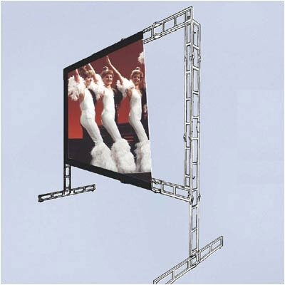 "Vutec Rear-Vu Porta-Fold Rear Projection Complete Screen Kit - 7' 2"" x 9' 8"" Video Format"