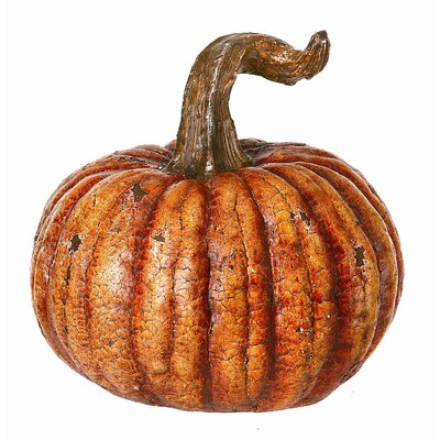 Regency International Aged Crackle Pumpkin Sculpture