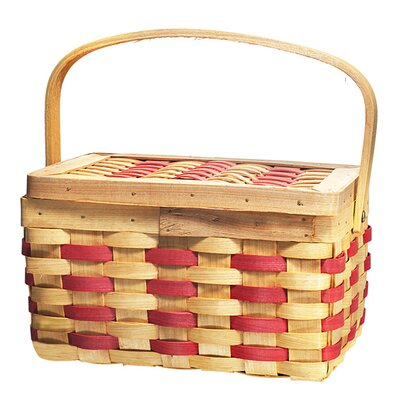 <strong>Quickway Imports</strong> Chipwood Picnic Rectangle Basket