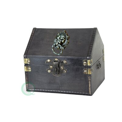 Small Pirate Chest with Lion Rings