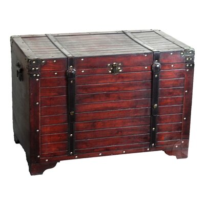 Quickway Imports Old Fashioned Wood Storage Trunk