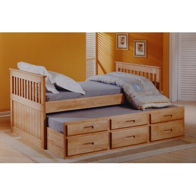 Homestead Living Captain Single Storage Bed Frame With
