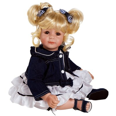 "Charisma Adora ""Denim and White"" Doll with Light Blond / Brown Eyes"