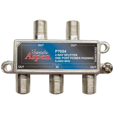 Eagle Cable Aspen 4 Way 2,600 MHz Splitter
