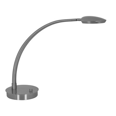Mondoluz Pelle 6.8W Table Lamp in Brushed Platinum