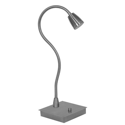 "Mondoluz Imu 22"" Table Lamp in Brushed Platinum"