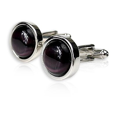 Cuff-Daddy Bold Cufflinks in Purple