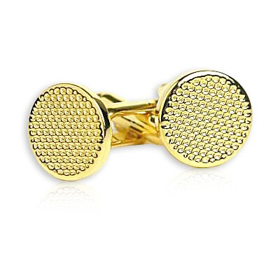 Metal Cufflinks in Gold