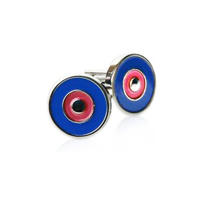 Bullseye Cuffs in Red / Blue