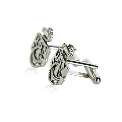 Cuff-Daddy US Navy Anchor Cufflinks in Silver