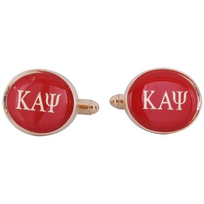 Kappa Alpha Psi Cufflinks in Red / Gold