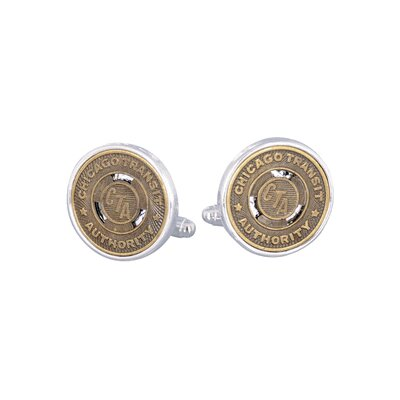 Cuff-Daddy Chicago Subway Token Cufflinks