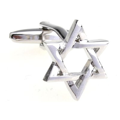 Cuff-Daddy Star of David Cufflinks in Silver