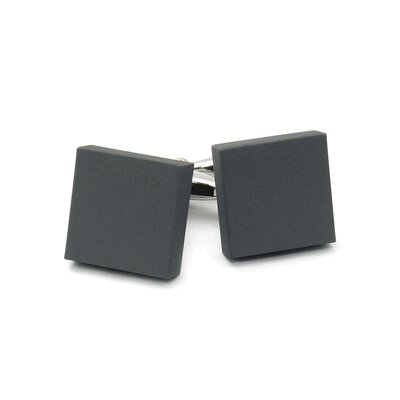 Cuff-Daddy Square Cufflinks in Gray