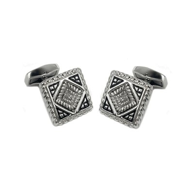 Cuff-Daddy Detailed Cufflinks in Stainless Steel