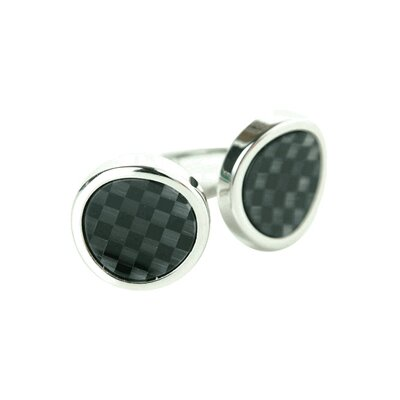 Mosaic Waves Cufflinks in Black / Gray
