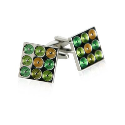 Turntables Cufflinks in Green