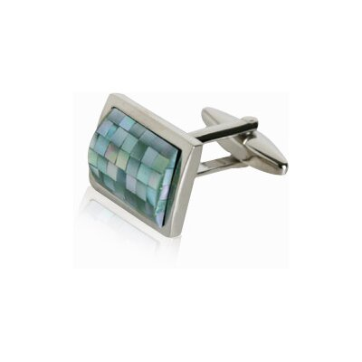 Cuff-Daddy Green MOP Mosaics Cufflinks